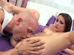 Fabulous pornstar Lola Foxx in amazing facial, blowjob sex movie