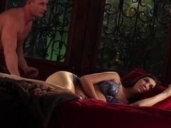 Slow hardcore erotic scene with brunette babe Holly Michaels