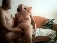Sexually Excited Granny Acquires her Bawdy Cleft Fingered by Senior Neighbor