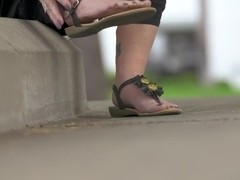 Bella's Glorious Mature Deep Wrinkled Oiled Soles with Alyx