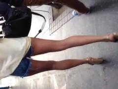 Sexy long white legs in daisy dukes 2