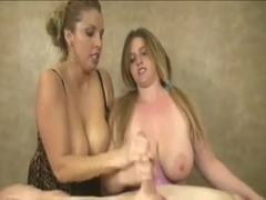 Two Women Give a Four Handed Handjob-daddu