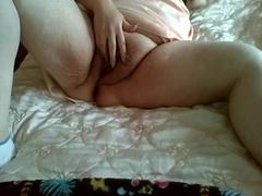 1St close-up masturbation of excited granny
