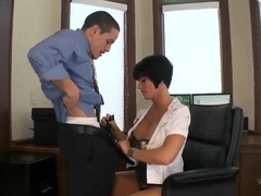 Strict boss Shay Fox gets her lunch fuck!