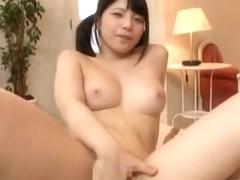 Pigtailed schoolgirl Ai Uehara enjoys deep penetraiton