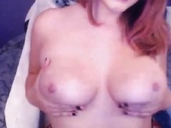 Sexy Breasty Neighbour Shows her Large Marangos and Fuck On Web Camera