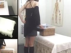 Slutty Jap enjoys some rubbing in hidden cam massage movie
