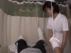 Kinky asian nurse sucks her patient's hot rod in porn movie