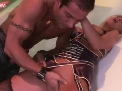 Hottest pornstars Lucy Belle, Helena Sweet and Veronica Sanchez in amazing lingerie, group sex xxx.