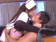Hottest Japanese girl Minori Hatsune in Amazing Stockings/Pansuto, Handjobs JAV clip