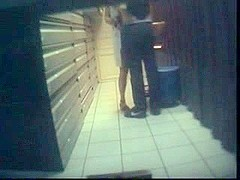 Couple caught fucking on voyeur cam