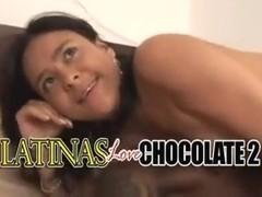 Latina chicks enjoy big hard black cocks