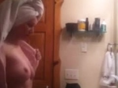 after shower milf voyeur
