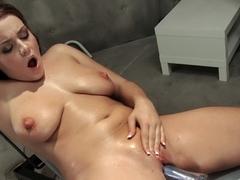 Exotic fetish adult video with crazy pornstar Natasha Nice from Fuckingmachines