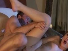Horny pornstar Tori Black in crazy blowjob, brunette porn scene