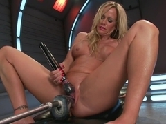 Crazy milf, fetish adult movie with fabulous pornstar Simone Sonay from Fuckingmachines