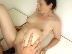 Nasty pussy destroyed with a dildo