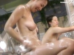Asian in shower do not notice the voyeur hidden cam 03250