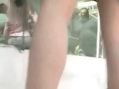 Girl browsing shops ends up in an upskirt street video