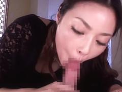 Risa Kasumi in Semen Sucking Deep Blowjob part 1.1