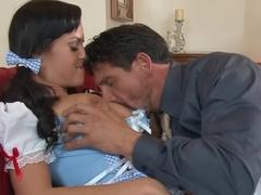 Crazy pornstar Rahyndee James in fabulous blowjob, facial xxx scene