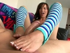 Crazy Carina Roman shows her amazing feet just for you
