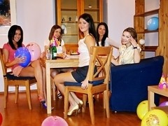 College orgy for a birthday girl