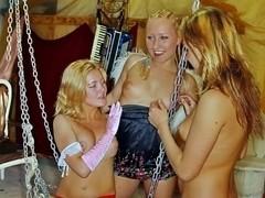 Hot college girls fucking in a club