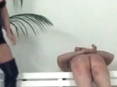 Hawt femdom-goddess with a thong