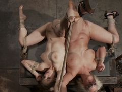 Crazy fetish xxx video with exotic pornstars Penny Pax, Cherry Torn and Derrick Pierce from Dungeo.