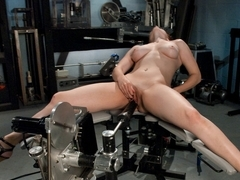 Hottest fetish, big tits sex scene with best pornstar from Fuckingmachines