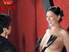 Exotic bdsm, fetish sex scene with best pornstars Nerine Mechanique and Cleo Dubois from Kinkunive.