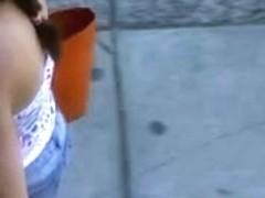 Street Candid NN Down blouse 08