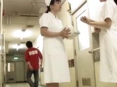 Lewd man fell on knees and sharked nurse skirt