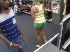 Black guy let the pawn man fuck his girl to earn money