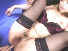 Horny Japanese girl Misa Nishida in Crazy Lingerie, Threesomes JAV scene