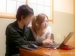 Kinky and hot Japanese young girl seduces her friend