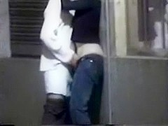 Couple making out in the public