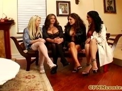 CFNM housewives jerking sub