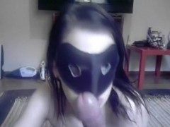 Hot girl receives a facial from Tim