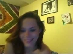 Gorgeous brunette amateur webcam video