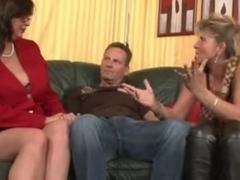 Busty German MILFs in a hardcore threesome