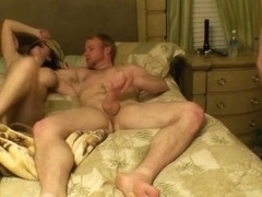 XXXHomeVideo: Throatfuck Threesome - Part 2