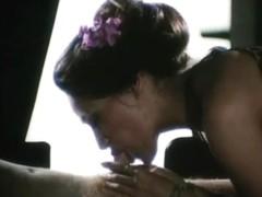 Retro porn movie with hot bitches getting facials