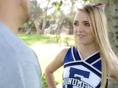 Fun times with flexible cheerleader