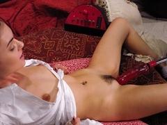 Amazing fetish porn movie with incredible pornstar Sasha Grey from Fuckingmachines