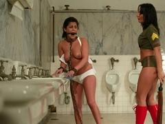 Fabulous brunette, fetish sex movie with amazing pornstars Sandra Romain and Michele Avanti from W.