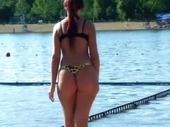 Nice Serbian ass on the beach