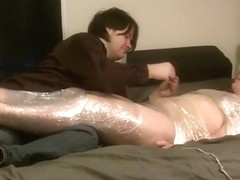 saran wrap tickling with hitachi at the end.