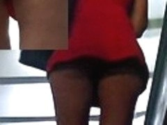 One of the greatest upskirts on stairs
